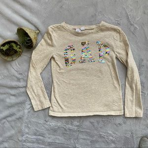 Gap | long sleeve tee with sequins